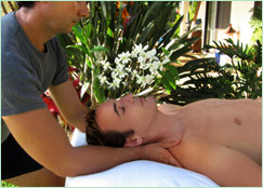 Clients getting Maui Massage